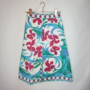 EMILIO PUCCI 70's bright a-line cotton skirt sz 8
